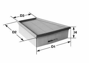 Filtru aer MERCEDES C-CLASS (W204) (2007 - 2014) QWP WAF237