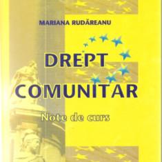 Drept Drept comunitar Note de curs Mariana Rudareanu