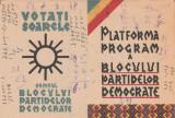 1948 Fluturas Votati Soarele - platforma program a Blocului Partidelor Democrate