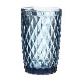 Set 6 pahare Celest, sticla, albastru, 310 ml