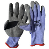 Mănuși de protecție fără cusături Topstrong Grey, cu strat de latex, marimea L Mania Tools