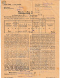 Cehoslovacia 1935 - document (ordin de plata)