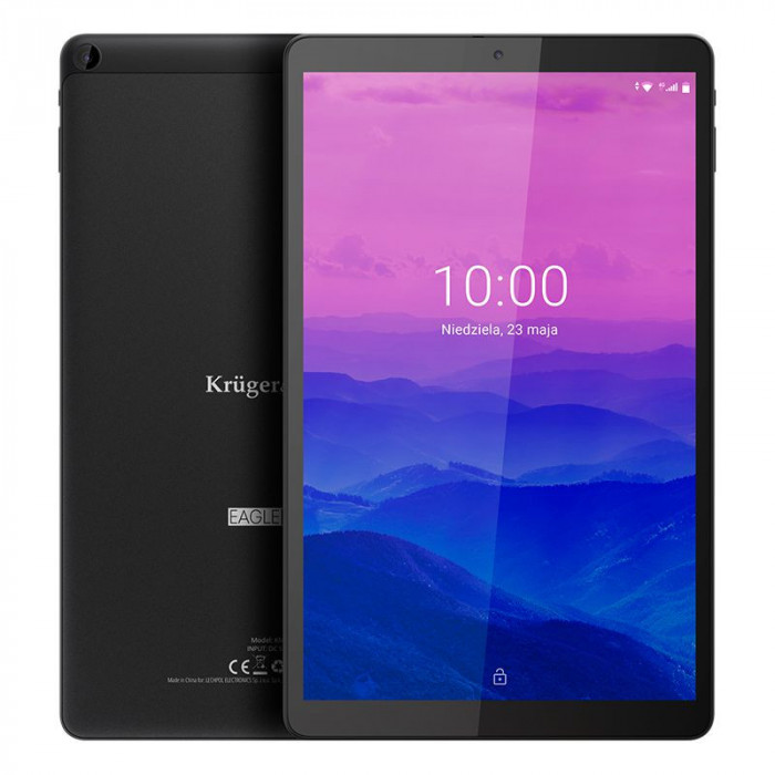 Tableta LTE Eagle Kruger Matz, 4 RAM, 64 GB, 6000 mAh, radio FM, senzor G, slot card SD