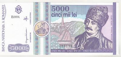 bnk bn 5000 lei 1992 unc foto