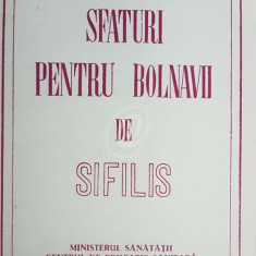 Sfaturi pentru bolnavii de sifilis