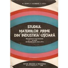 Studiul Materiilor Prime Din Industria Usoara - M. Ghimpu, E. Iacobeanu