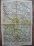 M. D. MOLDOVEANU- HARTA ROMANIEI - No.18 - IASI, ROMAN, BACAU.... - anii '30