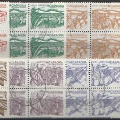 Nicaragua 1986 - reforma agrara, serie stampilata de 4