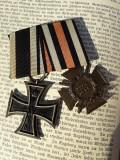 Bareta 2 decoratii germane Crucea de Fier Primul Razboi Mondial, Europa
