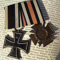 Bareta 2 decoratii germane Crucea de Fier Primul Razboi Mondial