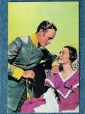 565 - Olivia de Haviland si Leslie Howard actori film Pe aripile vantului actor, Necirculata, Printata