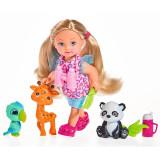 Cumpara ieftin Papusa Simba Evi Love 12 cm Baby Safari cu figurine si accesorii