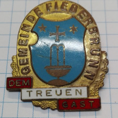 Insigna Austria - Gemeinde Fieberbrunn, Treuen Gast, veche