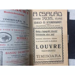 a csalad naptar 1935 evre szakacs es sutemenykonyo timisoara banat lb maghiara