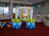 Baloane botez Leagăn bebe baietel