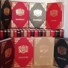 Liturghier în piele, Molitfelnic, Mineiul, Octoih Mare, Triodul, vecernier