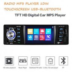 "Radio Mp3 player Auto 1DIN Bluetooth Avi Dvix Ecran color 3.5"" Usb Sd card"