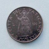 VATICAN  -  100 Lire 1967  -  aUNC