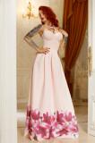 Cumpara ieftin R597-5 Rochie eleganta cu imprimeu floral la baza, M, S, S/M, FOGGI