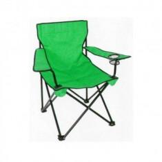 Scaun pliant camping, Strend Pro BC2012A, verde, 53x53x90 cm, max. 120 kg