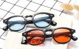 Ochelari de soare Moscot Lemntosh - Johnny Depp Style - Lentile rosii, Unisex, Rotunzi, Protectie UV 100%