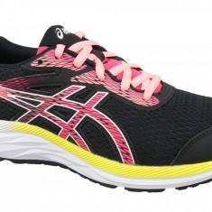 Pantofi alergare Asics Gel-Excite 6 GS 1014A079-002 pentru Copii, 35.5, 36, 37, 37.5, 38, 39, 39.5, 40, Negru