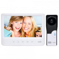 Video-interfon cu fir, ecran LCD 7 inch, infrarosu, alb, Home
