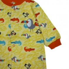 Salopeta / Pijama bebe crocodili Z87, 1-2 ani, 1-3 luni, 12-18 luni, 3-6 luni, 6-9 luni, 9-12 luni, Galben