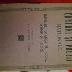 Cântări și Poezii Nationale,Dr. Victor Bojor, Gherla, 1919
