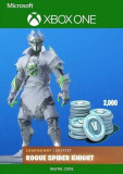 Fortnite Rogue Spider Knight Bundle + 2000 V-Bucks Xbox One