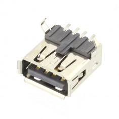 Conector USB A, mama, SMD, contacte aurite, Amphenol - 004434