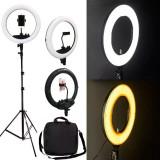 Lampa Circulara Profesionala 35cm 60W Led cosmetica makeup studio foto