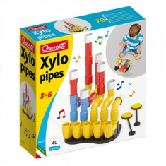 Jucarie creativa Xylo pipes 40 pcs 4167 Quercetti