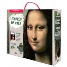 Puzzle Mona Lisa 300 piese cu carte