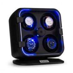 Klarstein Clover Watch winder, suport pentru 4 ceasuri, 3 rotații, 4 viteze LED