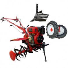 MOTOCULTOR DIESEL 7CP SM H105 + ROTI CAUCIUC + RARITA ENERGO