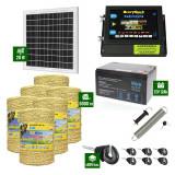 Pachet Gard electric 6,6j putere cu Panou Solar si 6000m de fir 160Kg
