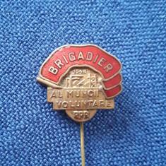 Insigna 1948 - Brigadier al muncii voluntare - R.P.R.