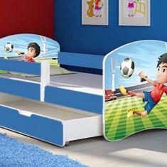 Patut Tineret MyKids Football cu Sertar si Saltea 160x80