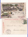 Rusia - Litografie- Tarul Nicolae al II -lea in Franta -Regalitate