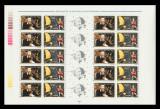 2003 Romania - Nostradamus 500 ani coala de 10 serii + 5 viniete LP 1614 b, MNH, Astronomie, Nestampilat