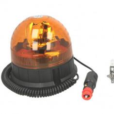 Girofar portocaliu 12 24V H1 fixare magnetica cablu 4m
