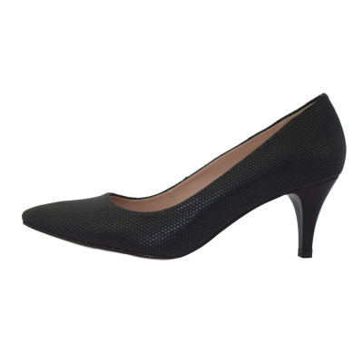 Pantofi dama, din piele naturala, marca Botta, 634-01-01-05, negru 35 foto