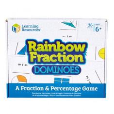 Rainbow Fraction joc domino invatare fractii