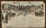 (195) CARTE POSTALA ROMANIA - BUZIAS - LITOGRAFIE, MAI RARA, ANII 1900, Circulata, Printata