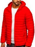 Cumpara ieftin Geacă matlasată bărbați roșie Bolf LY35