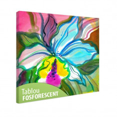 Tablou fosforescent Orhidee abstracta