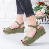 Sandale Alidili verzi cu platforma -rl