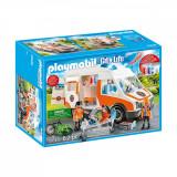 Set Playmobil City Life Rescue - Ambulanta cu lumini intermitente