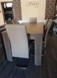 Masa cu 6 scaune plus masuta de cafea cu sertar